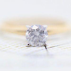 GIA Yellow Gold 0.73 Carat Diamond Engagement Ring